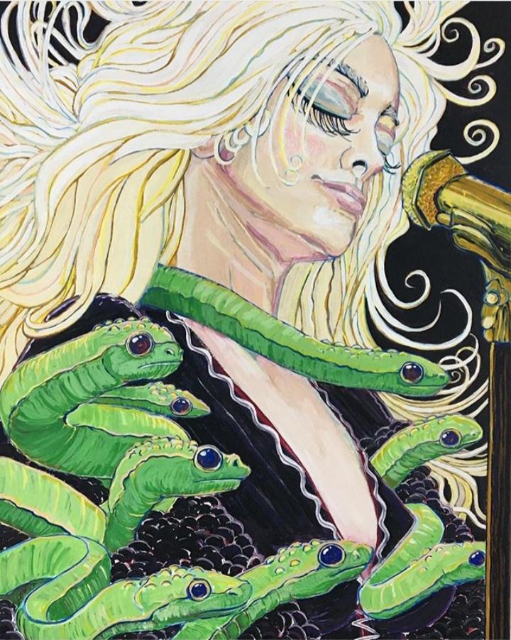 Siren/Muse #1 Acrylic on Canvas
